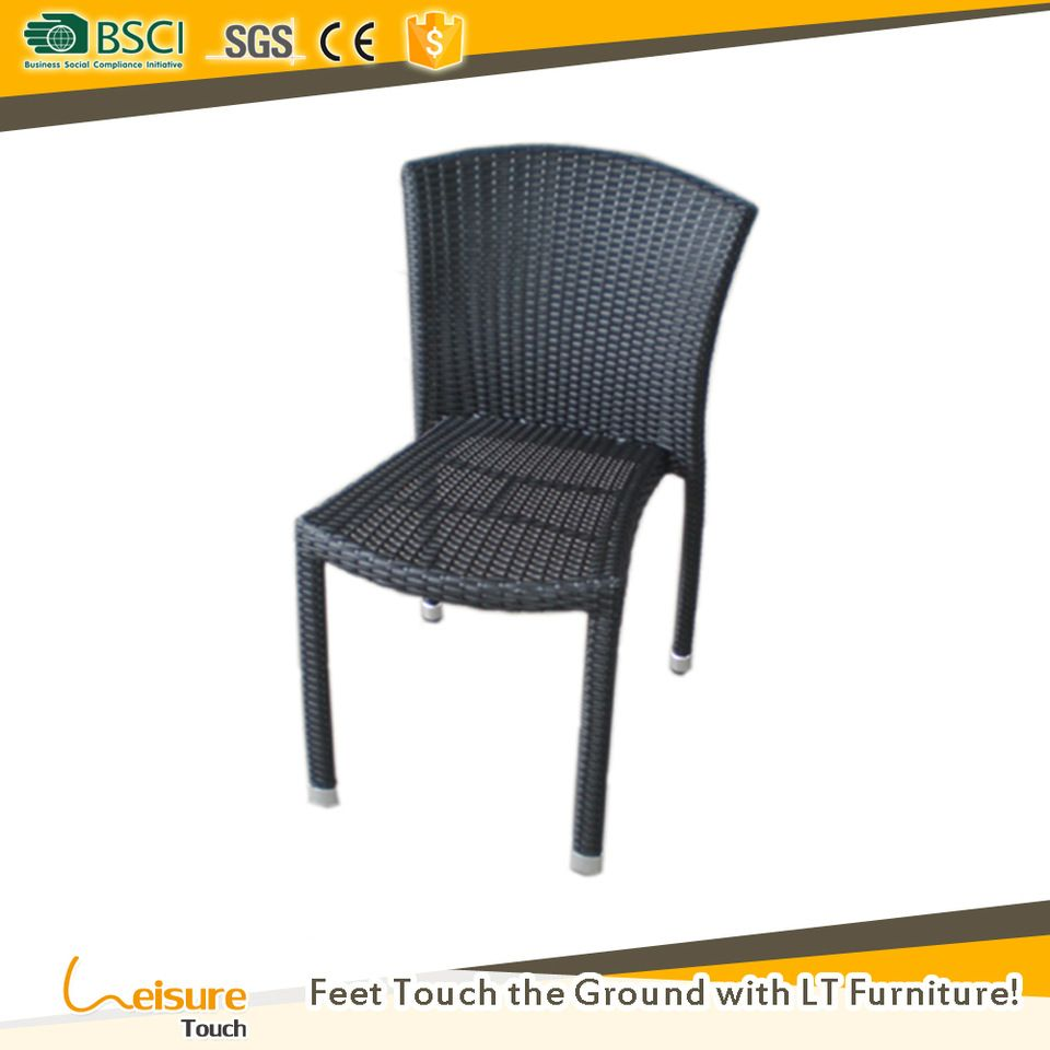 Affordable black wicker rattan no arm stacking dining chairs for out door restaurants furniture  sc 1 st  Pinterest & Affordable black wicker rattan no arm stacking dining chairs for out ...