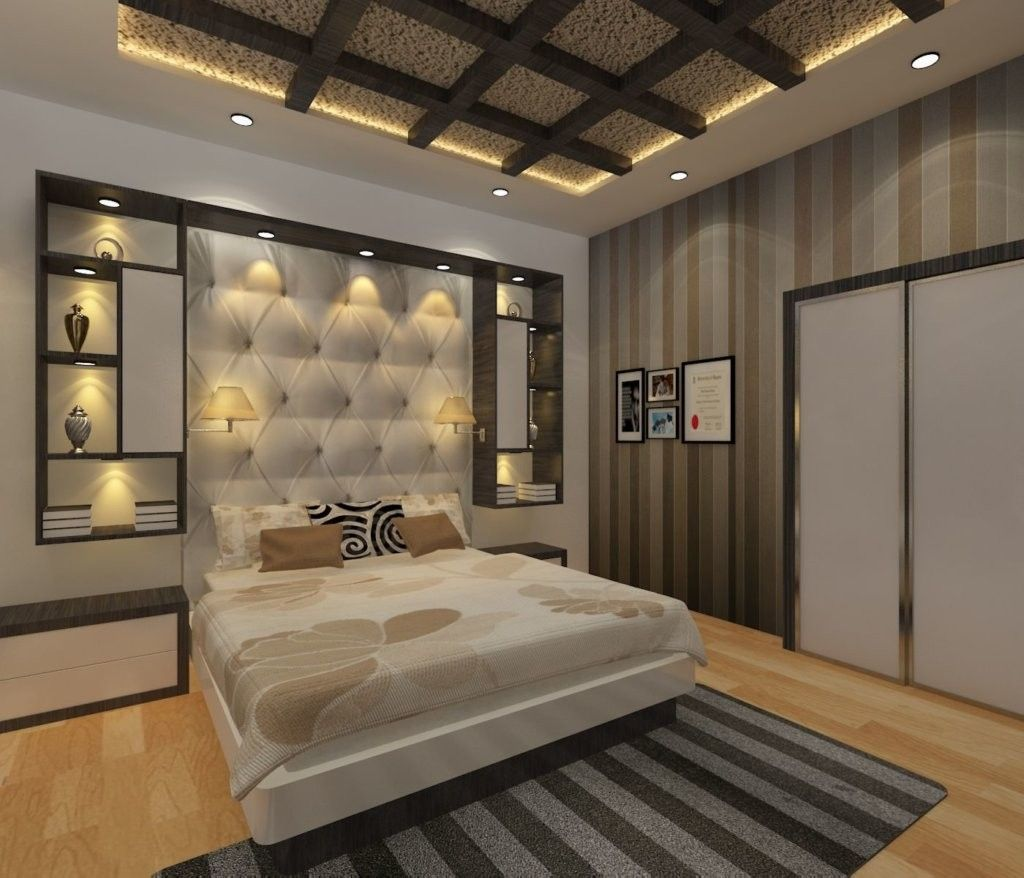 Amazing Bedroom Design Ideas With Attractive Headboard To See More Visit In 2020 Ceiling Design Bedroom Bedroom False Ceiling Design Ceiling Design Living Room