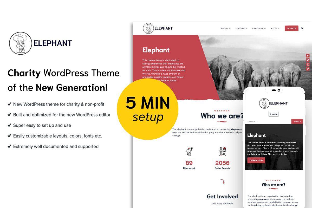 Elephant Charity Wordpress Theme Wordpress Theme Customize Wordpress Theme Wordpress Theme Responsive