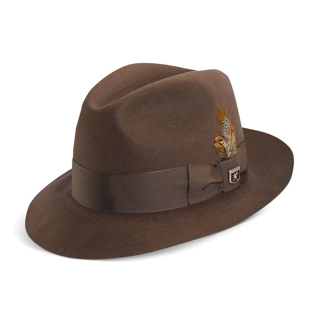 4e484f9d80632 Men's Stacy Adams Cannery Row Wool Felt Fedora, Size: Large, Brown ...