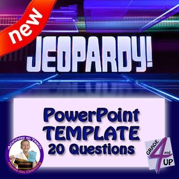 Jeopardy - PowerPoint Template - 20 question version 20 - jeopardy powerpoint template