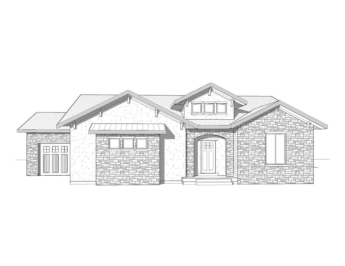 Amaseno   A Mountain Rustic Style Rambler House Plan   Walker Home Design