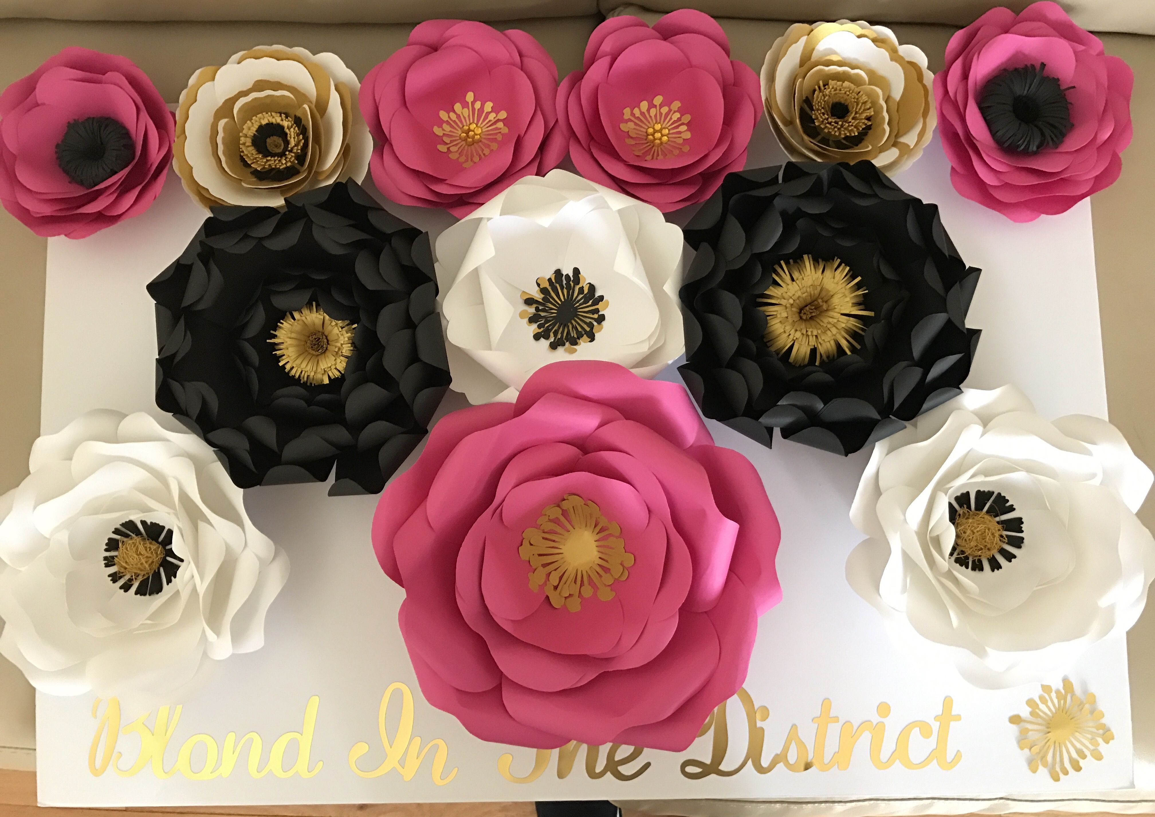 Hot Pink Gold And Black Decor Custom Writing And Colors Event