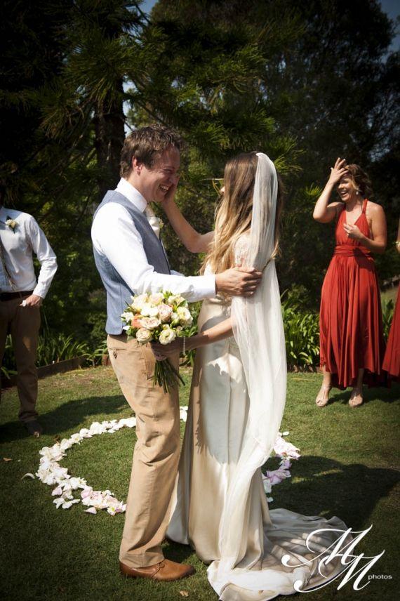 Beautiful Moment Jen And Freddie Byron Bay Australia Wedding