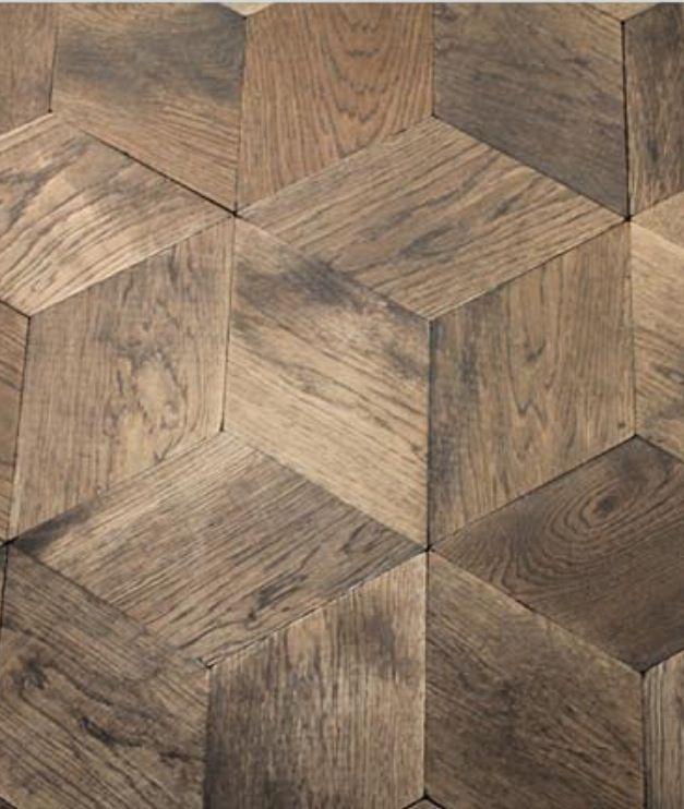 Crazy idea: Cut down ceramic/porcelain wood tiles and do this ...