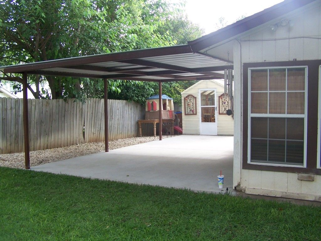 Attached Lean To Patio Cover North West San Antonio (With