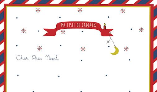 Liste Noel print noel noël liste au pere noel cadeau déco décoration chambre