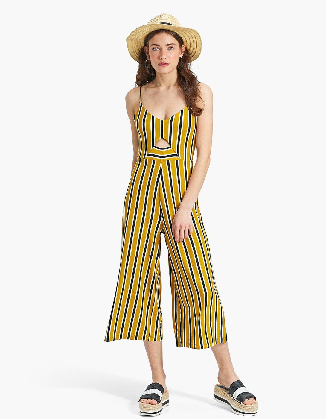 73570e25028 Striped strappy culotte jumpsuit - Just In