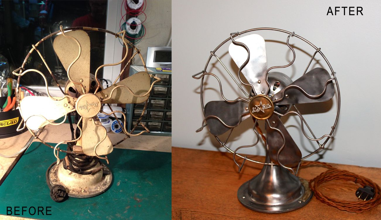 1918 Fitzgerald Star Rite 10 Oscillating Fan Oscillating Fans Vintage Radio Table Fan