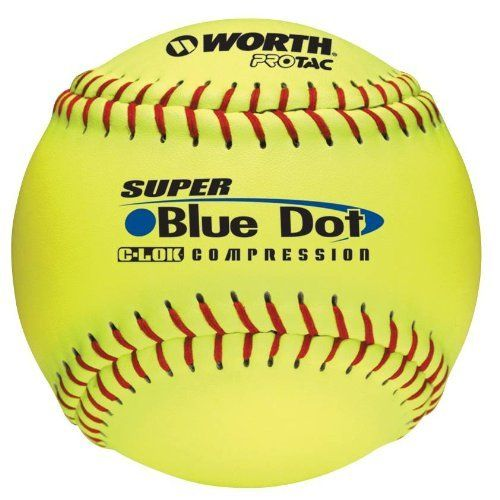 "Worth 12-Inch Slowpitch YS2RS Protac Non-InchStamped ASA Ball (Pack of 12) by Worth. $61.59. .47 COR / 525 comp. Blue Dot Not ASA Approved Pro Tac cover Poly graphite center C-LOK moisture repellant technology 12"" BALL SHIPPED WILL BE YELLOW!. Save 20%!"