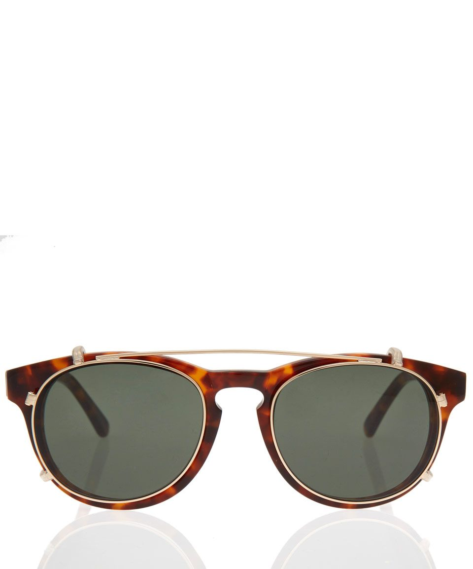 Han Kjobenhavn Tortoiseshell Timeless Sunglasses with Clip-On Frames ...