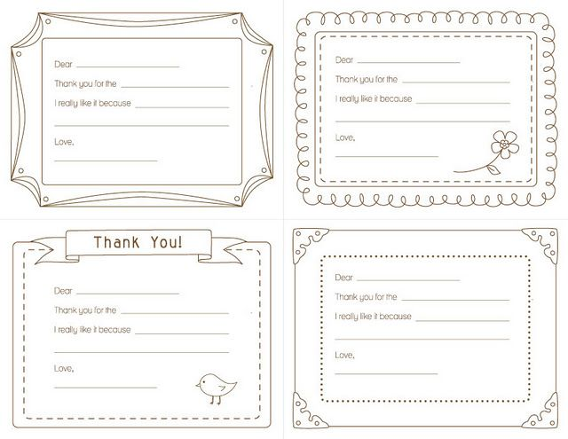 image about Fill in the Blank Thank You Cards Printable identified as little ones printable fill inside of the blank thank yourself playing cards small children