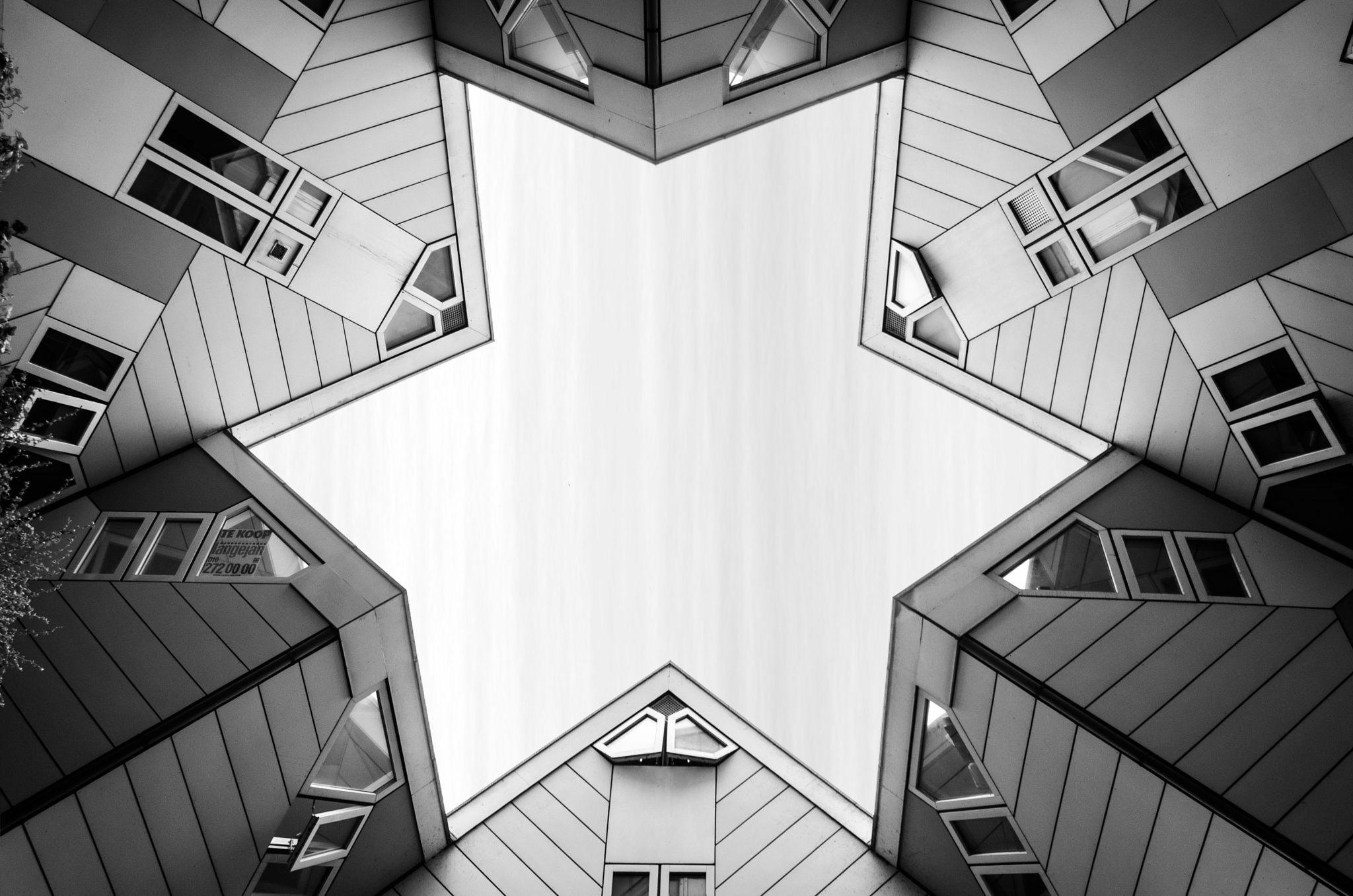 Star shape buildings in Rotterdam.