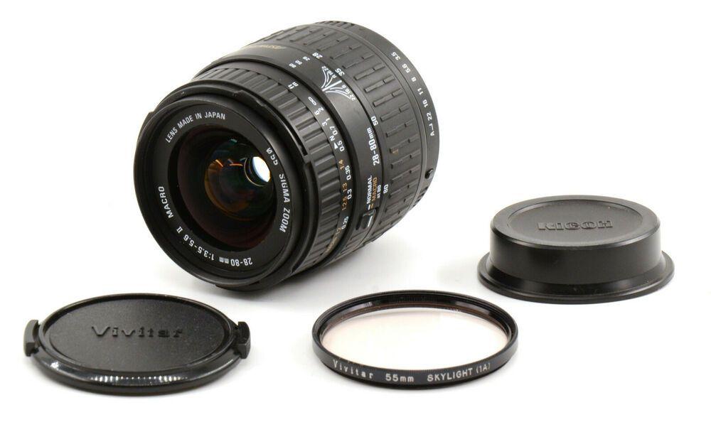Sigma Zoom 28 80mm F3 5 5 6 Ii Macro Lens For Pentax K Mount Good Condition Sigma In 2020 Macro Lens Pentax Ebay