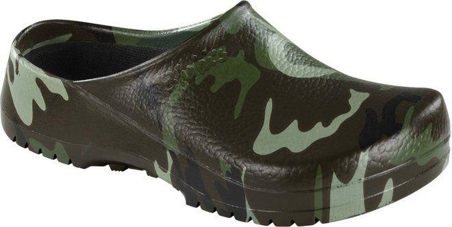 Super-Birki green-camouflage in PU
