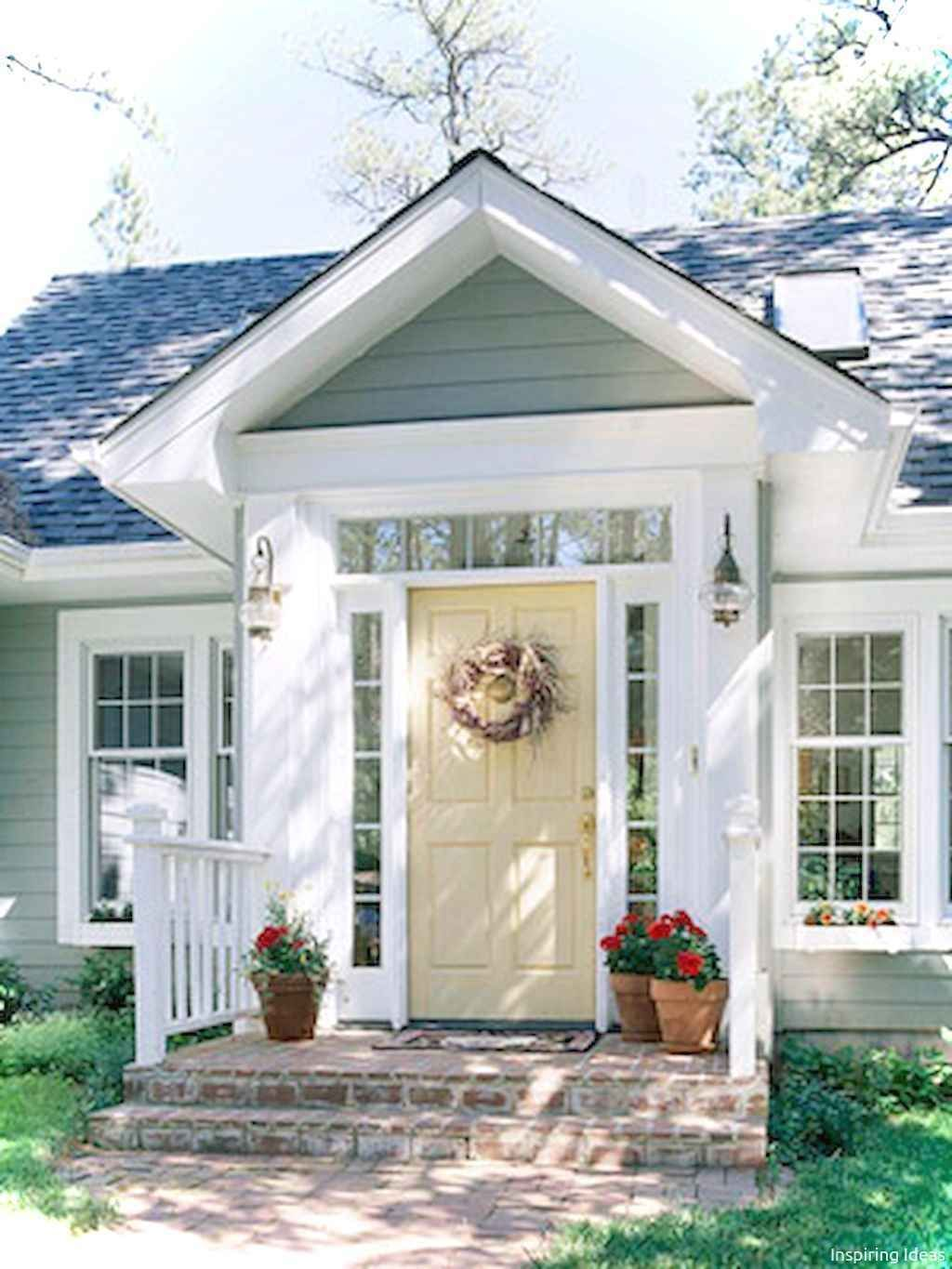 Awesome Cottage House Exterior Ideas Ranch Style 44 Lovelyving Small Front Porches Designs Cottage Style Homes House Exterior