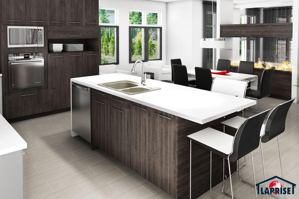 Designer zen contemporain lap0528 maison laprise maisons pr usin es cuisine for Mini maison usinee