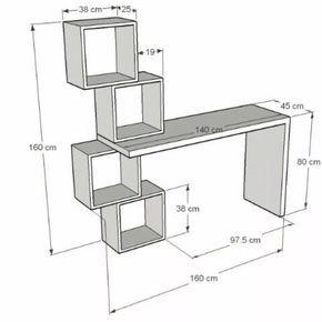 Escritorio Moderno Minimalista Mesa Para Pc Con Cubos Bs 89990