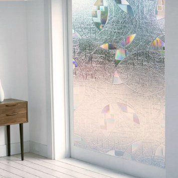 rabbitgoo film adh sif pour fen tre d coratif film de vitre repositionnable statique 3d. Black Bedroom Furniture Sets. Home Design Ideas