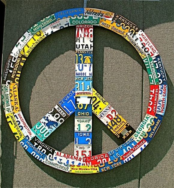 Peace Sign License Plate