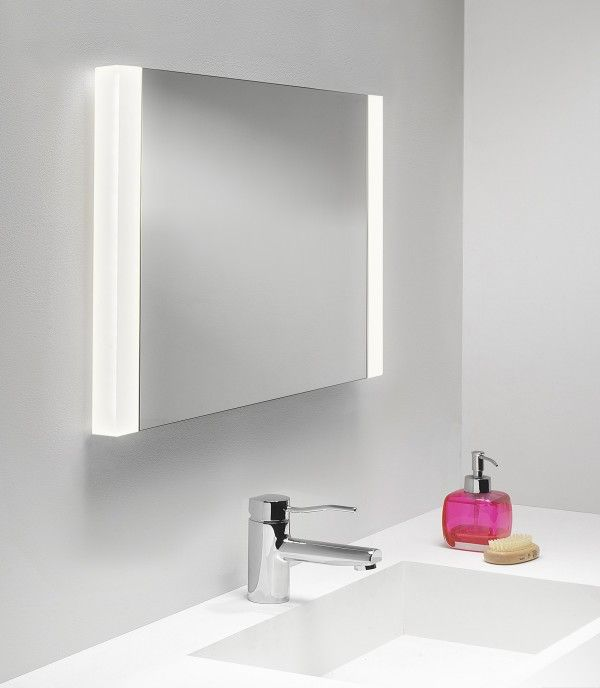 beautifully black lighted bathroom mirror