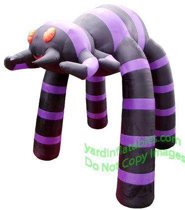 Black & Purple Spider Archway