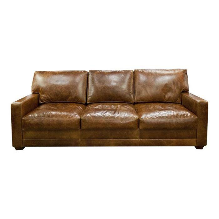 Lawson Leather Sofa in Ranch Penny | Nebraska Furniture Mart