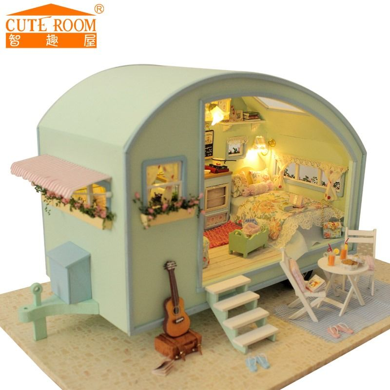 Cheap Dollhouse Furniture Kit, Buy Quality Miniature Dollhouse Directly  From China Diy Doll House Suppliers: DIY Doll House Wooden Doll Houses  Miniature ...