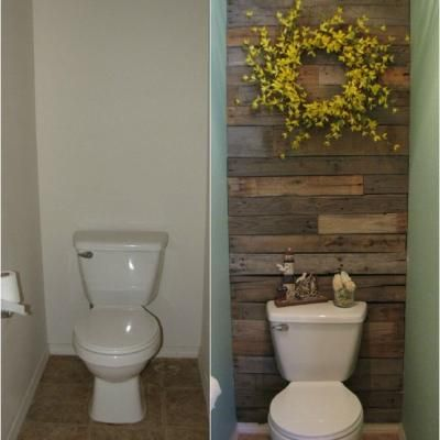 Pallet Wall Tutorial {Wall Accents} | Idée déco wc, Deco wc ...