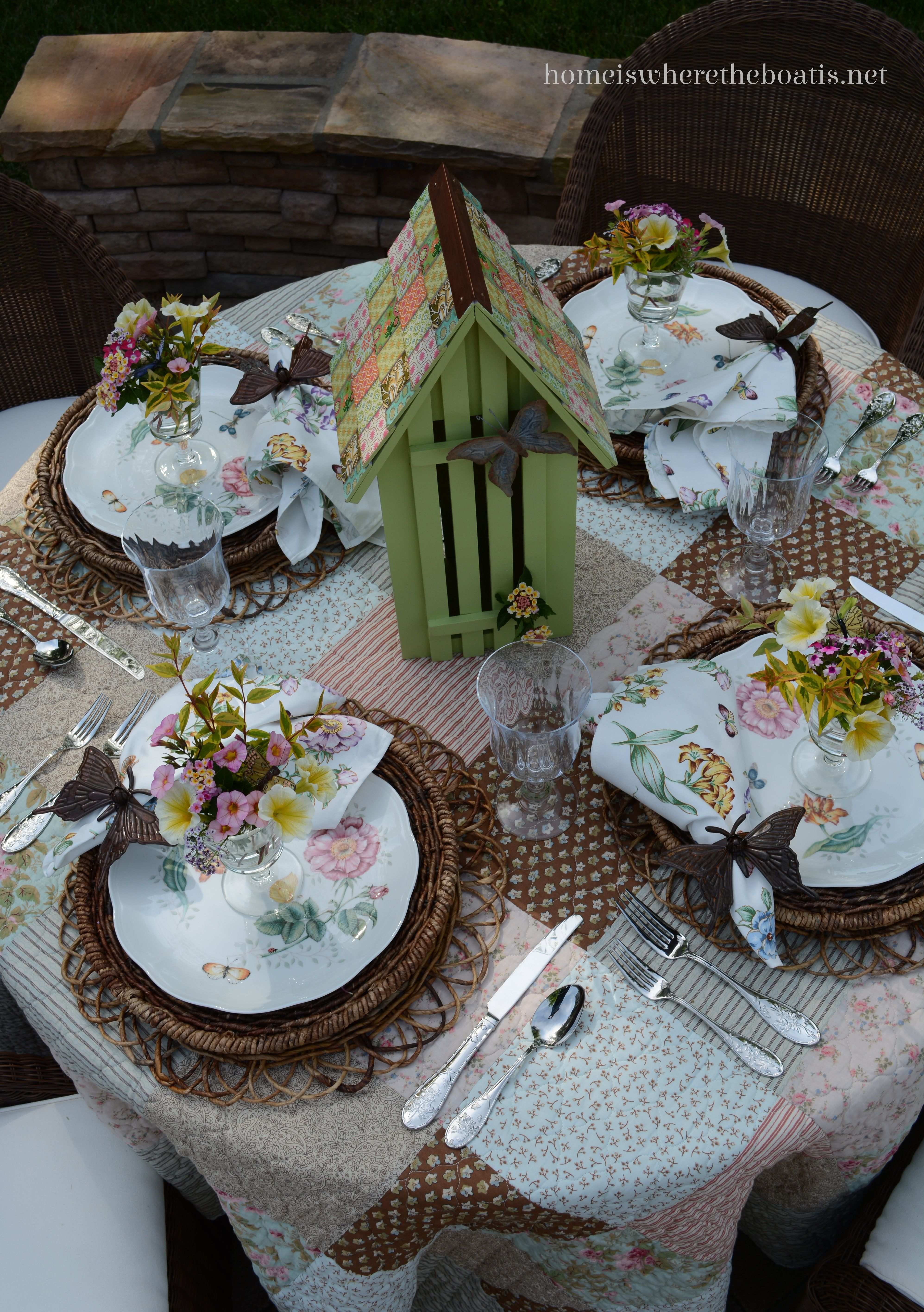 An Invitation To The Garden And Dining With Butterflies Spring Table Settings Patio Dining Table Tablescapes