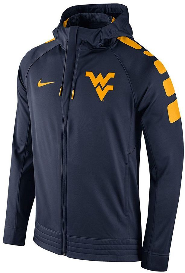 3f0b4b40 Zip up a look of champions with this Nike men's West Virginia Mountaineers  hoodie. PRODUCT FEATURES Performance fleece interior Drawstring hood Zip  front 2 ...