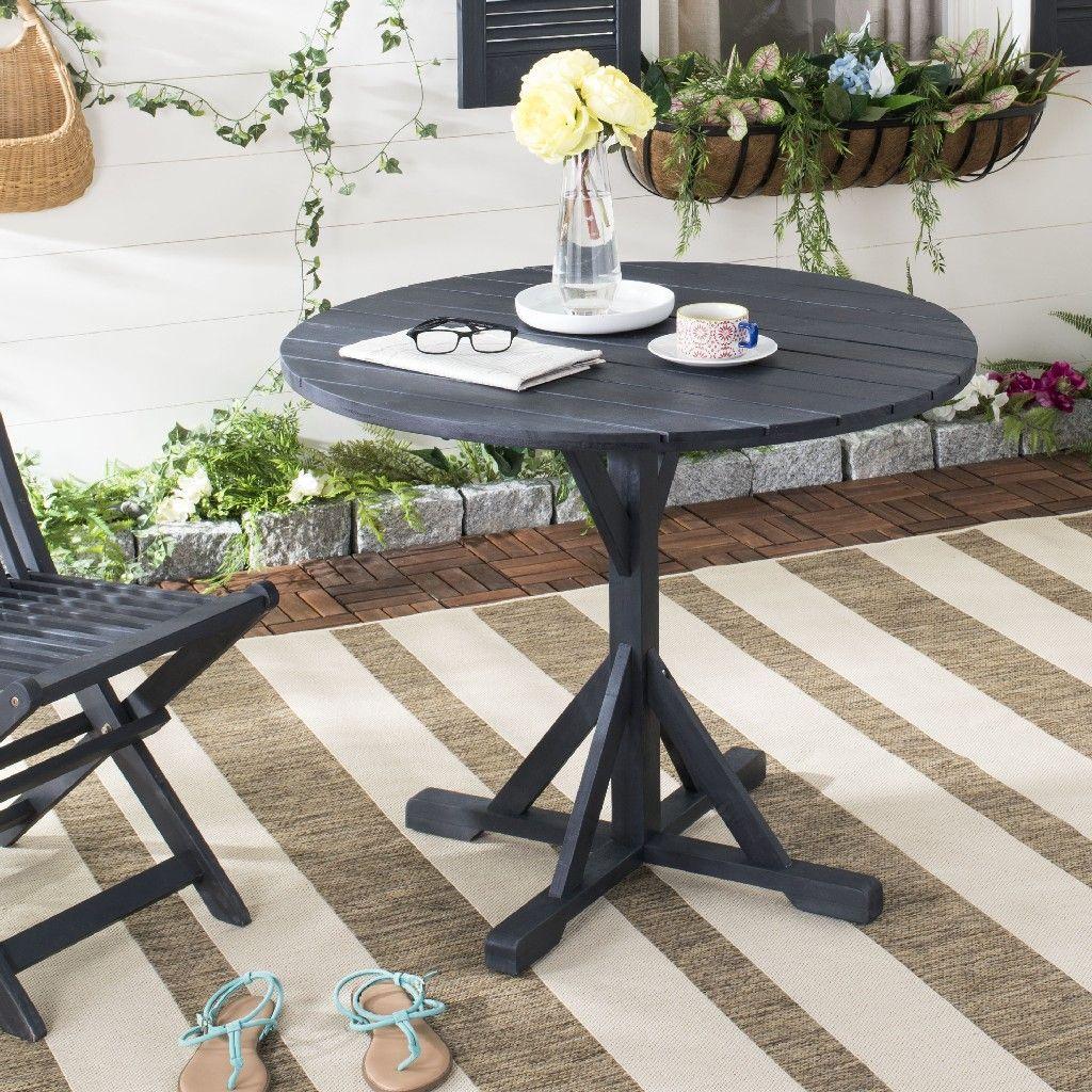Arcata Round Table In Dark Slate Grey