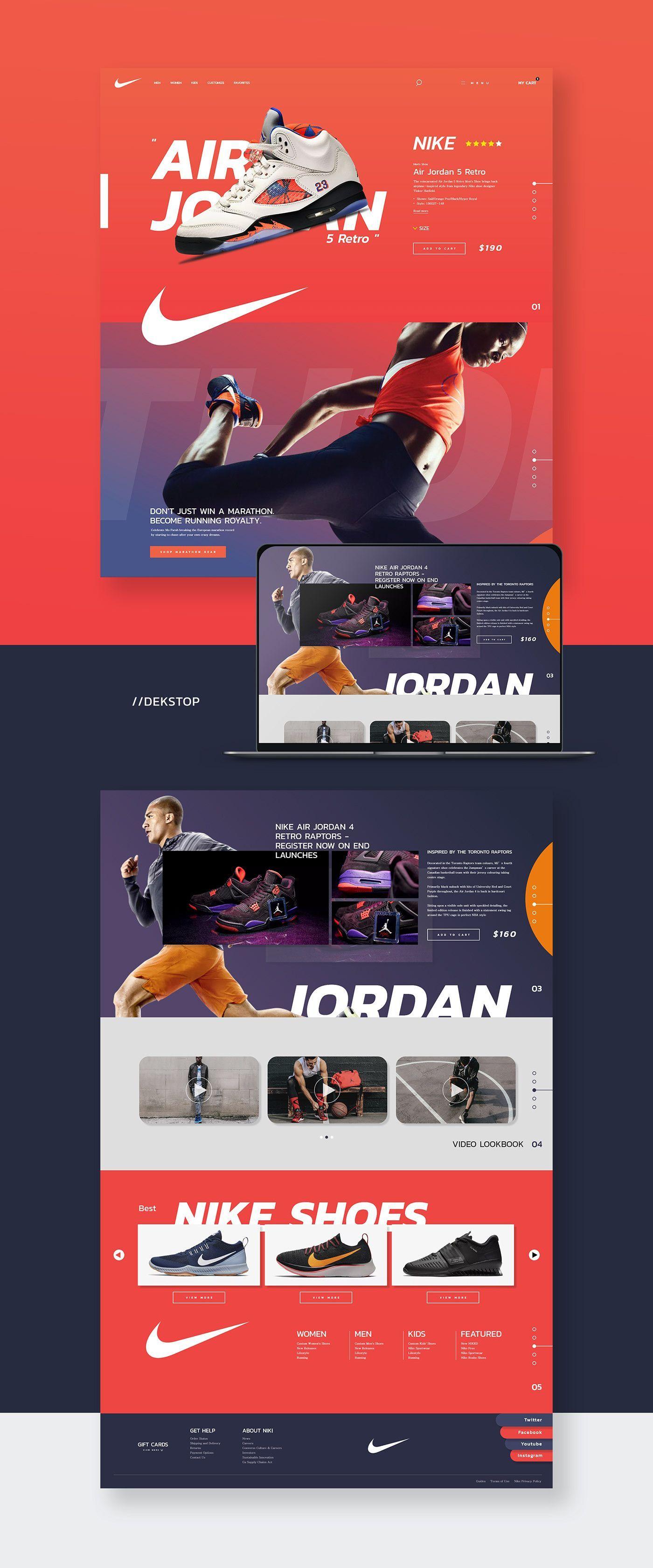 Nike Air Jordan Web Design In 2020 Web Design Tips Web Design Homepage Design