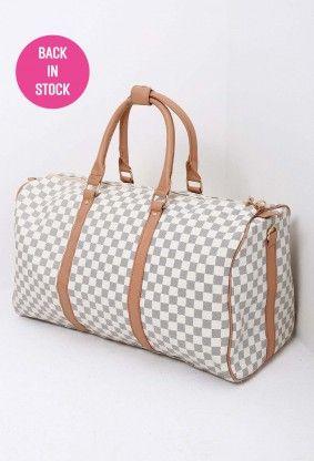 Globetrotter Cream Check Weekend Bag