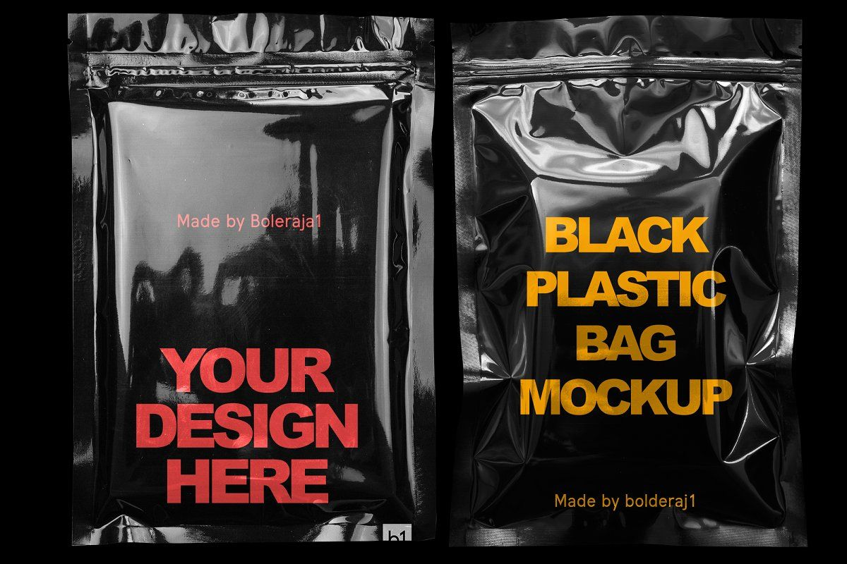 Download Black Plastic Bag Mockup Bag Mockup Plastic Bag Design Plastic Bag