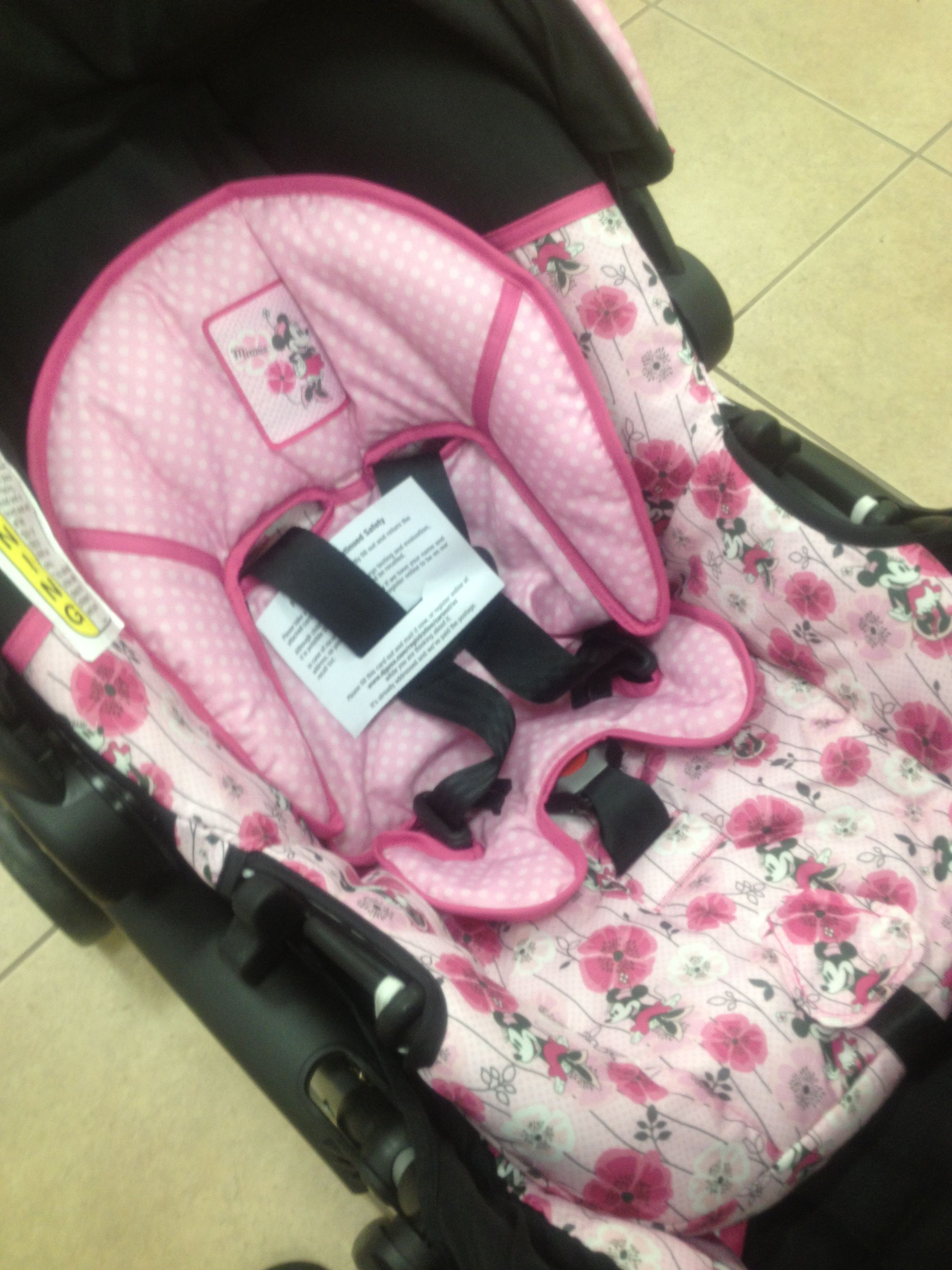 Minnie Mouse Floral Minnie Stroller w/ matching car seat ...