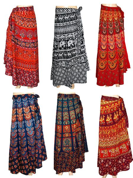 10 Pcs Wrap Skirt Lot Price: $100 Skirt Length : 38 InchesColor ...