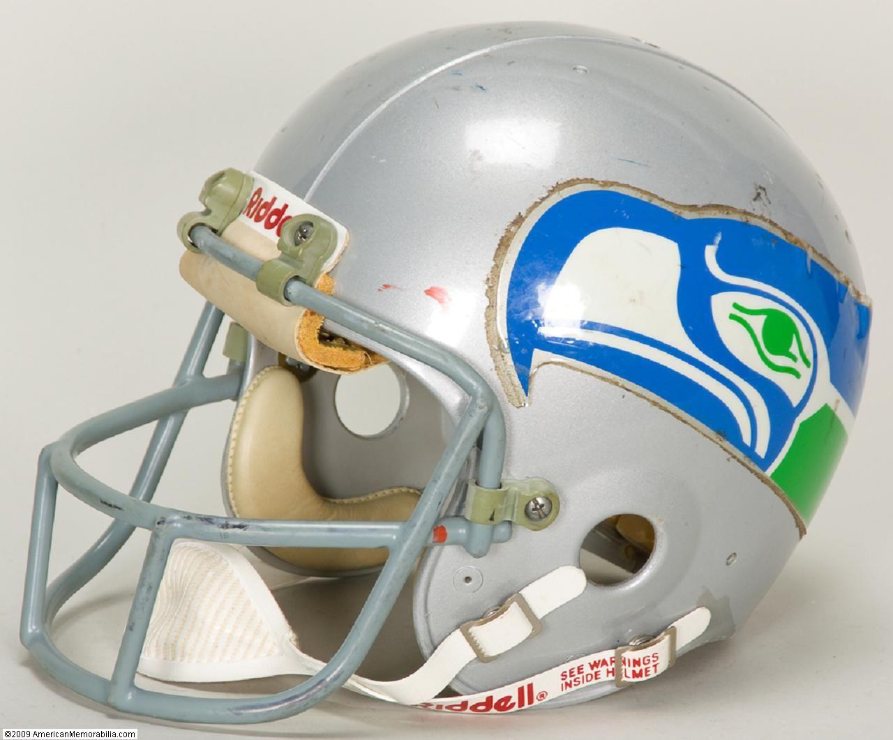 0d3b2057 Early 1980s Seattle Seahawks Game-Worn Helmet | Fan Grl | Football ...