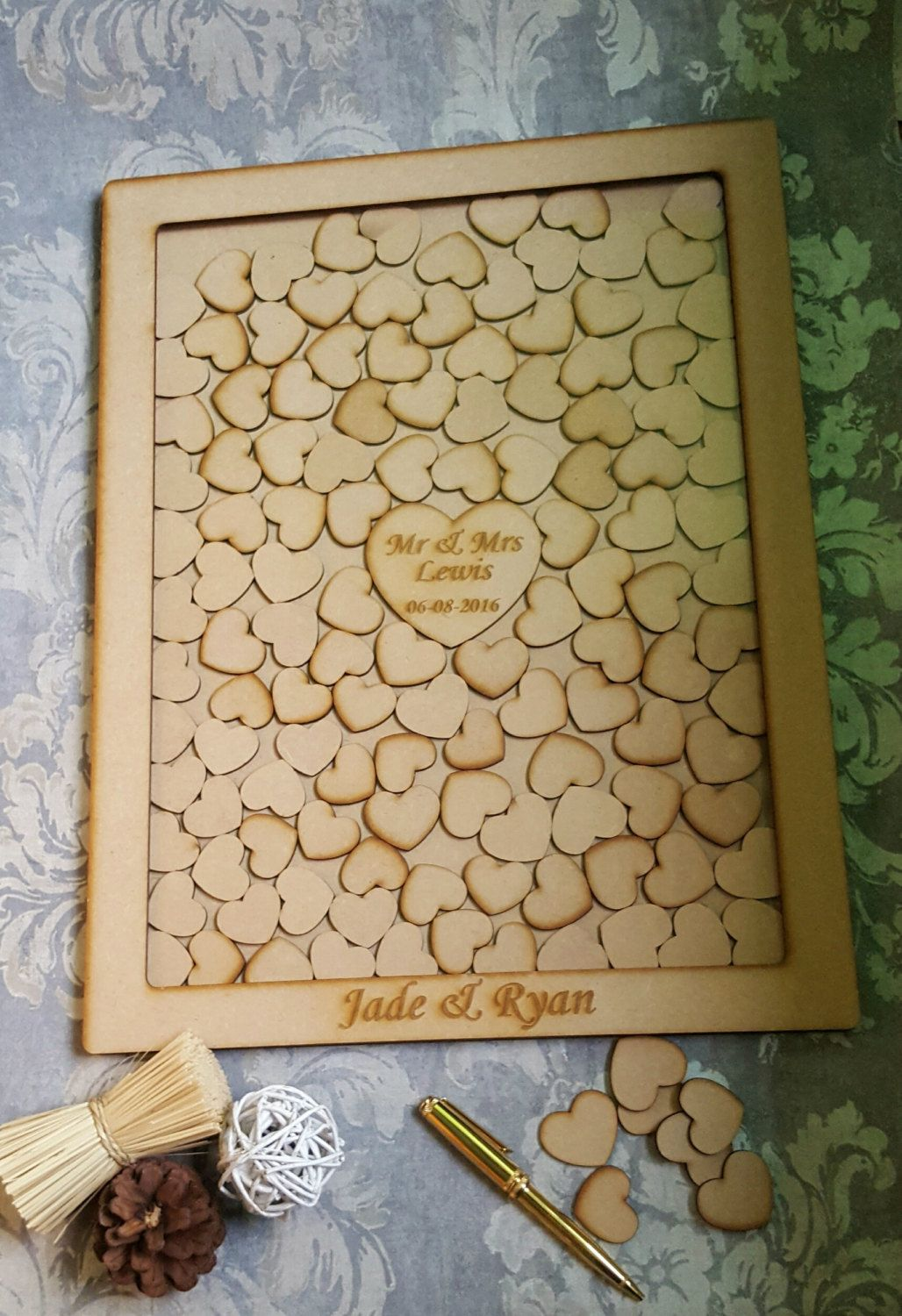 Drop Box Wedding Guest Book Personalized Drop Box Style