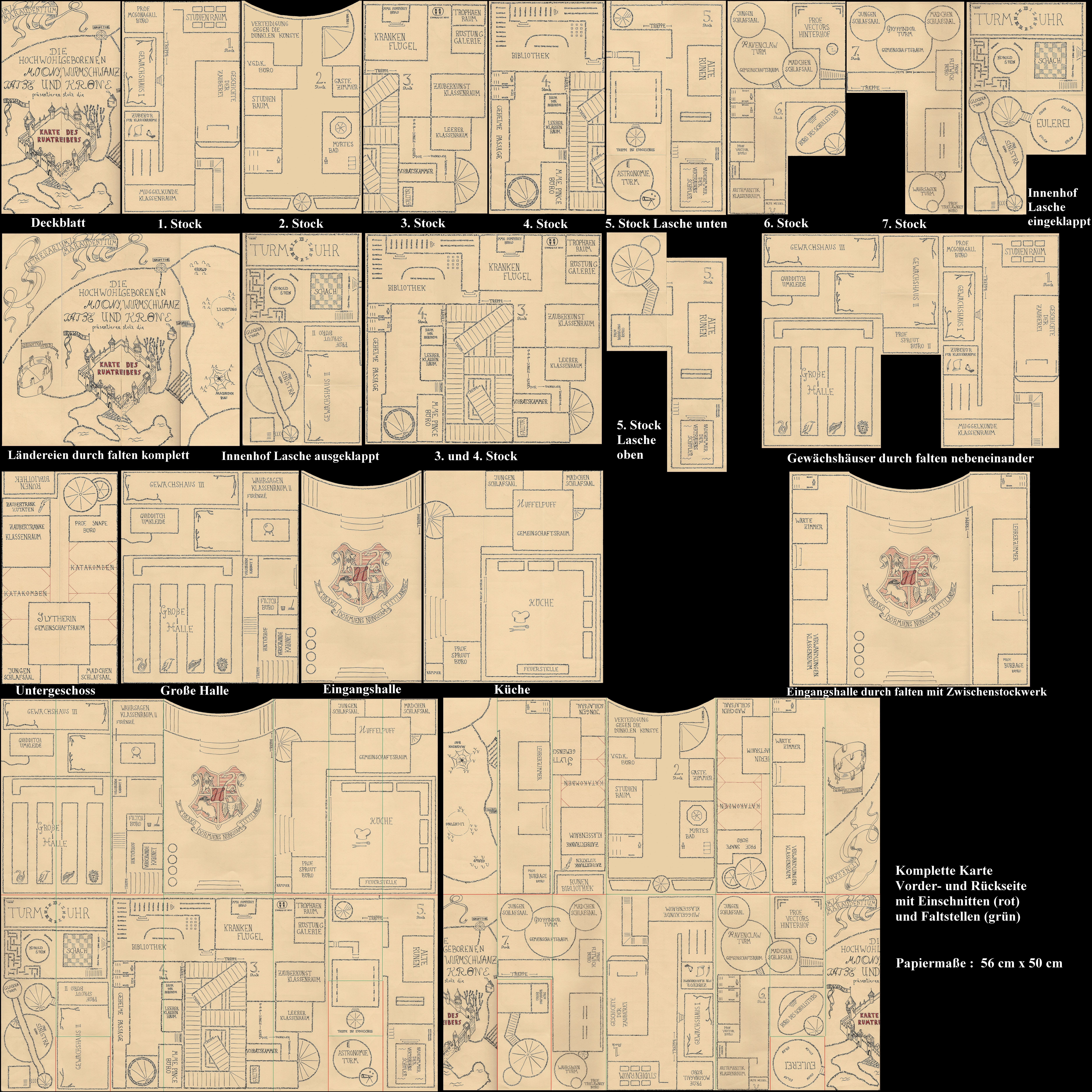 Marauders Map German By R0pe02 Harry Potter Printables Harry Potter Marauders Map Harry Potter Christmas