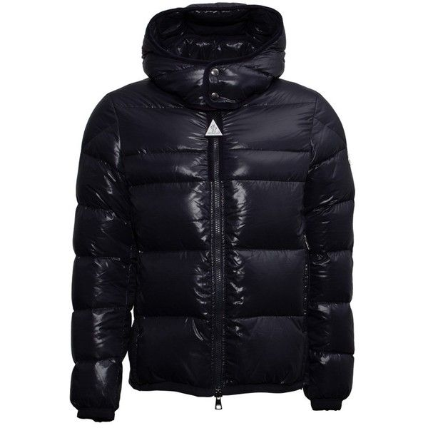 Moncler Harry Down Jacket ($1,290) ❤ liked on Polyvore featuring men's  fashion, men's clothing, men's outerwear, men's jackets, blue, mens zip  jacket, mens ...