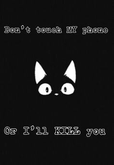Don't touch my Phone   Seni, Seni manga, Wallpaper ponsel