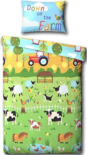 Toddler Bed Duvet Cover Junior, Farm Toddler Bedding Sets