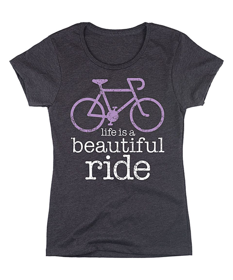 Another great find on #zulily! Heather Charcoal 'Life Is a Beautiful Ride' Bicycle Tee by LC Trendz #zulilyfinds
