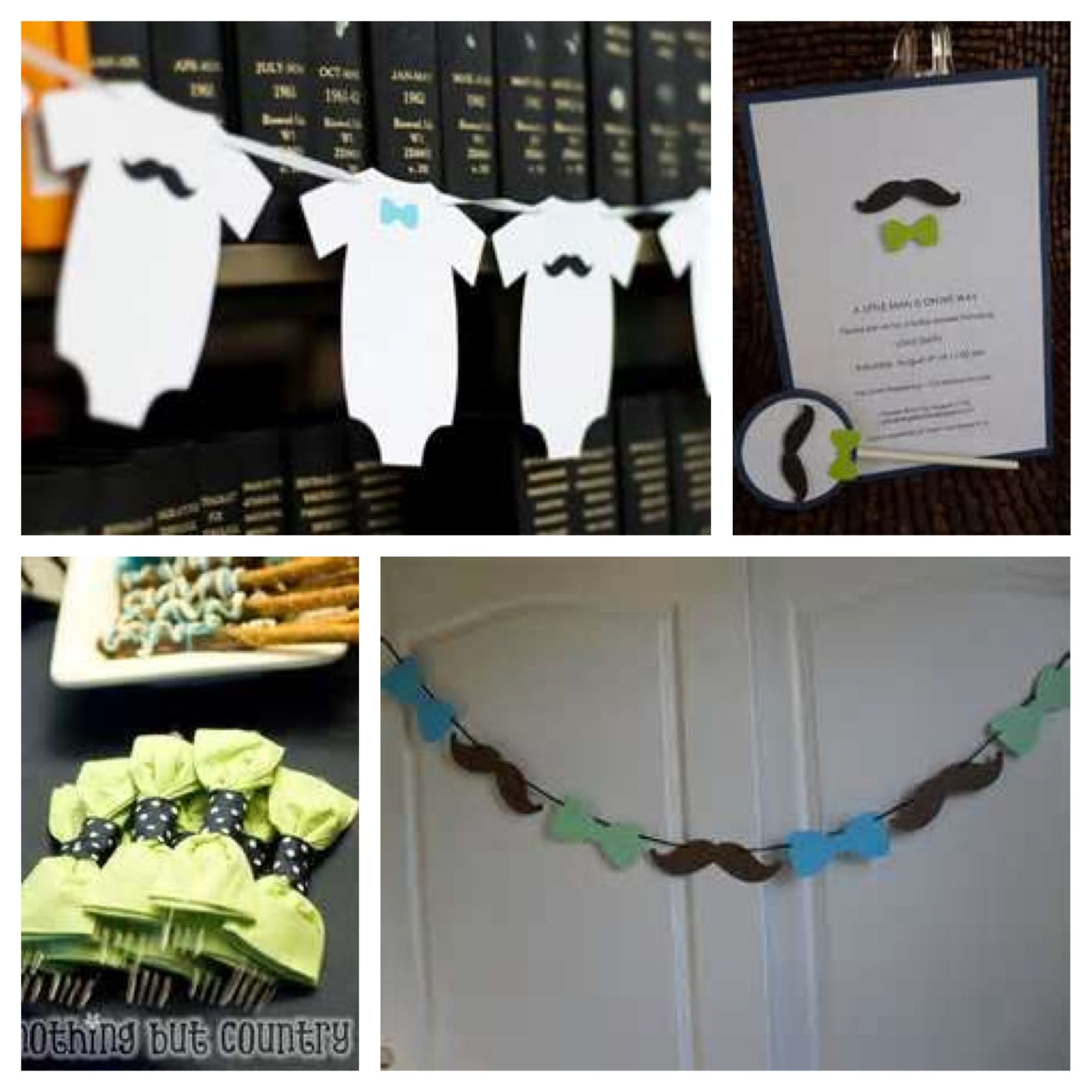 mustache theme baby shower pinterest
