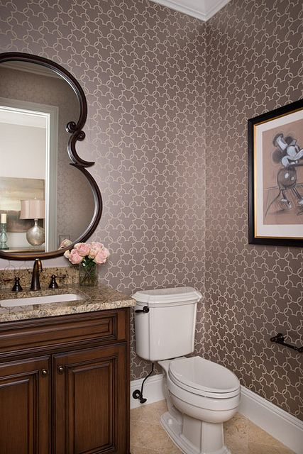 Very nice adult Disney bathroom  Love the mouse wall paperOne of the coolest Disney merchandise EVER  I ve always wanted  . Disney Bathroom. Home Design Ideas