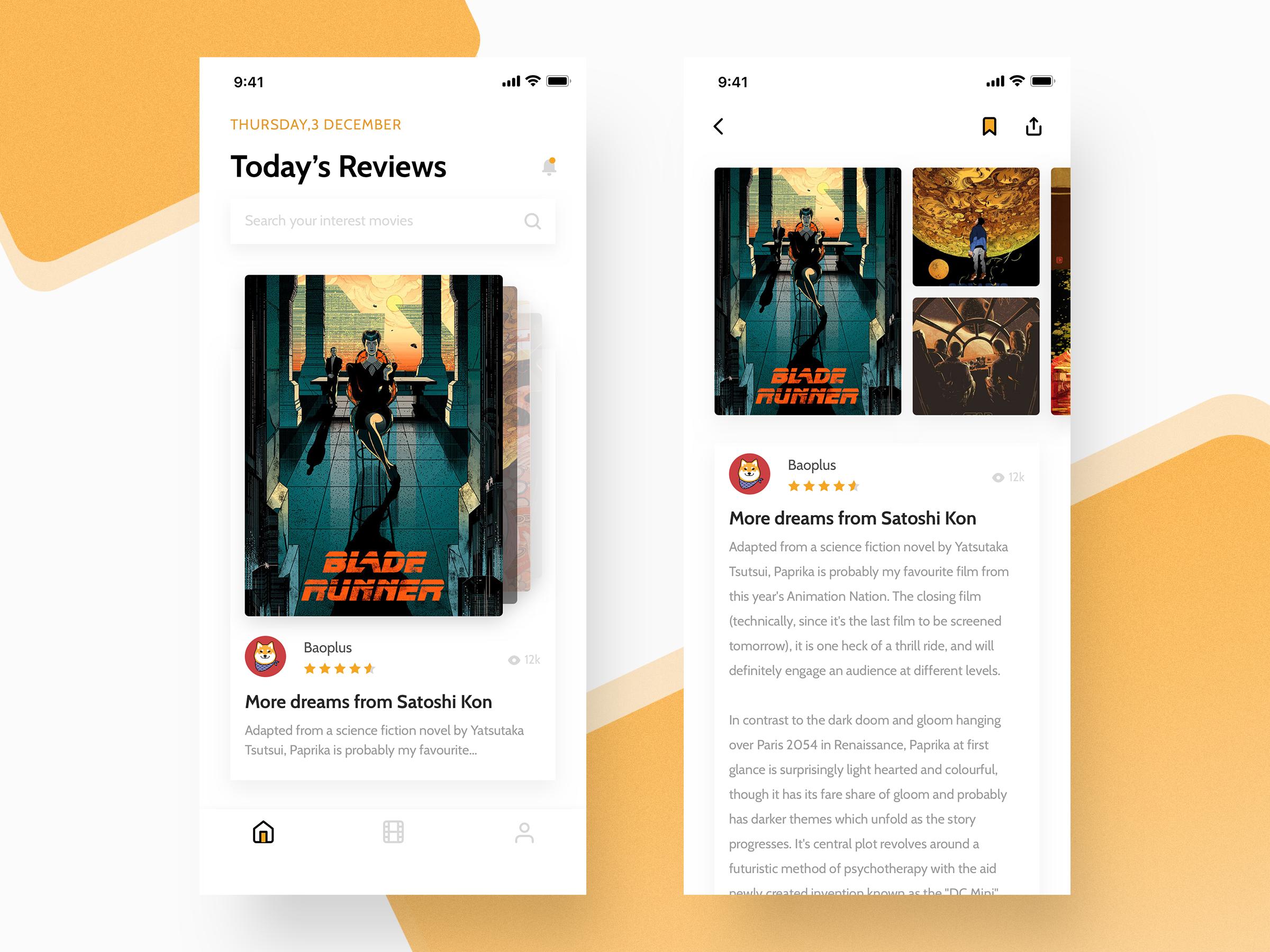 Movie Reviews App | UI Design | Mobile ui design, App design