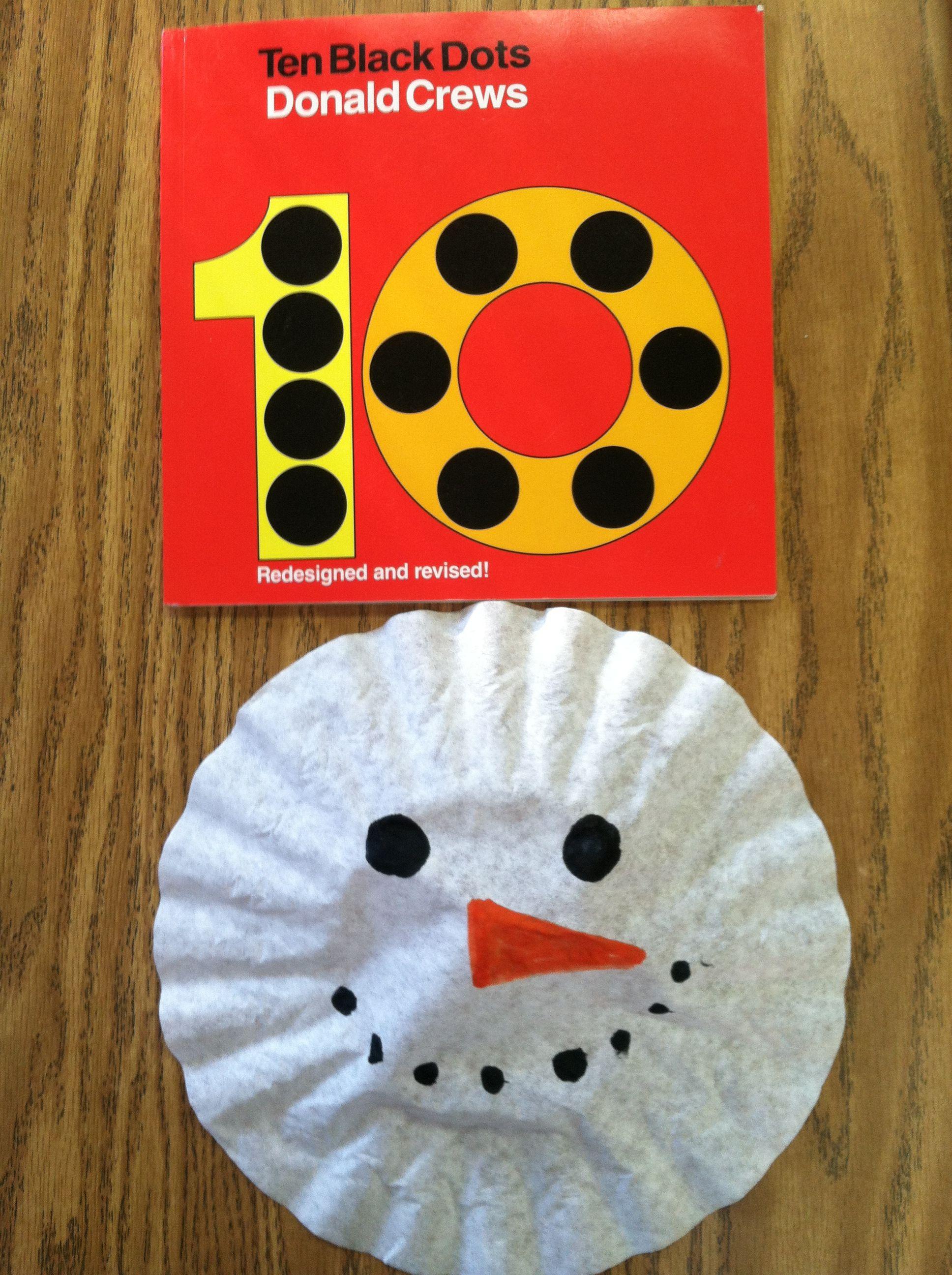Ten Black Dots Coffee Filter Snowman