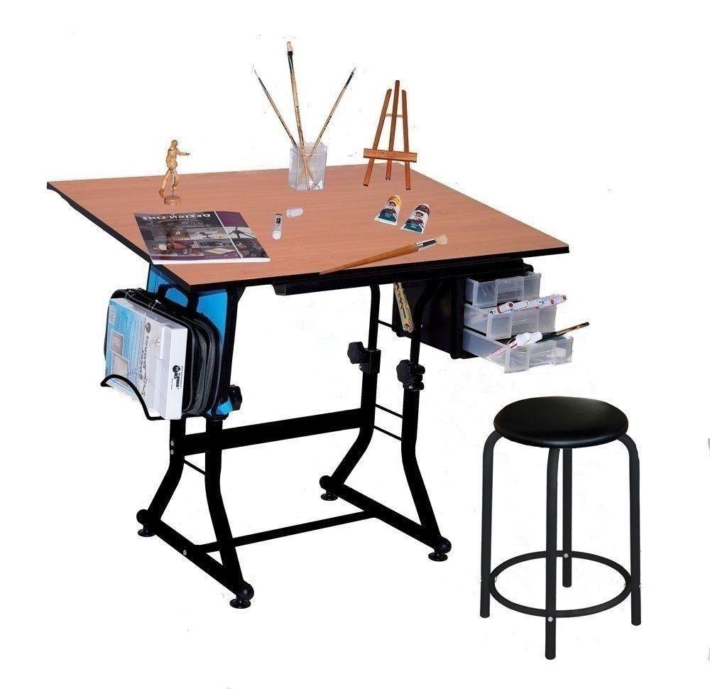 Office Desk Set Organizer Art Table Stool Drawing Gamers Storage Drawers Craft Office Desk Set Desk Set Desk