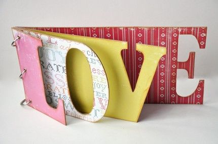 love shaped scrapbook